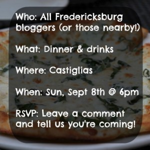Fredericksburg Blogger Meet Up