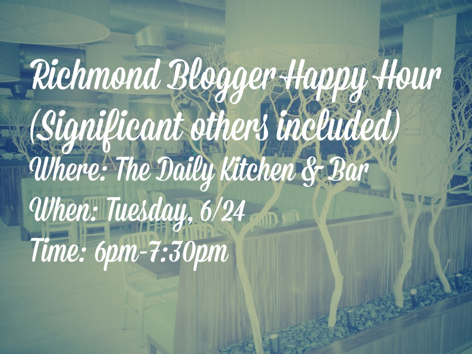 richmond blogger happy hour