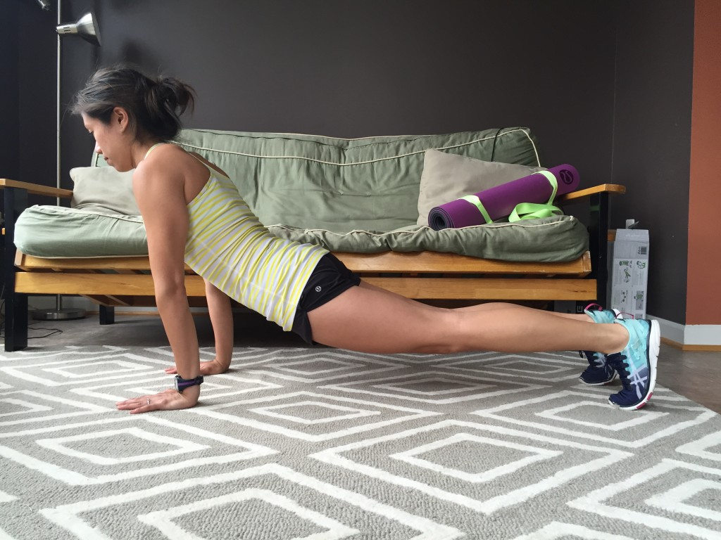 Incorrect plank on hands