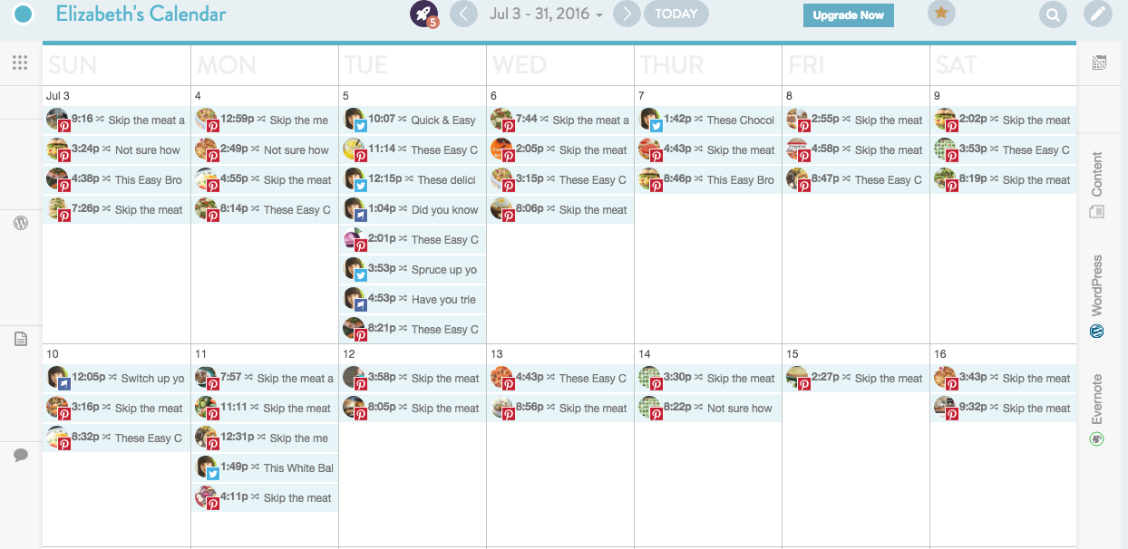 Coschedule Screen shot